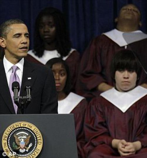 Скучный президент Обама (7 фото)