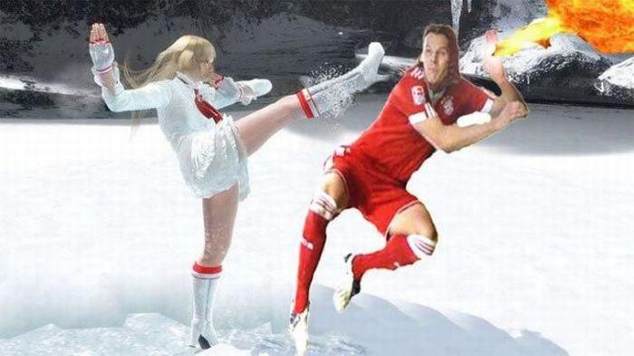 Фотожаба на футболиста Баварии Даниэля Ван Бюйтена (18 фото + 6 гифок)