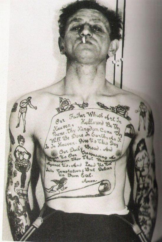 Ретро-татуировки (28 фото)