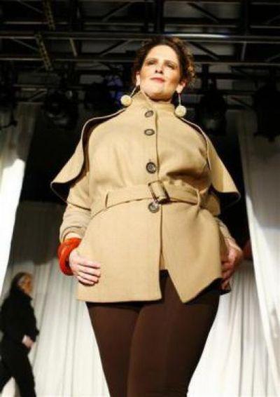 Неделя моды для полных женщин в Нью-Йорке (13 фото)