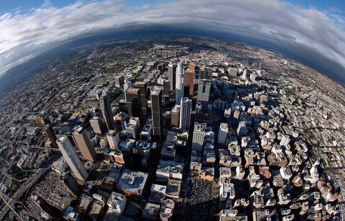 Центр Лос Анджелеса. Вид сверху (16 фото)
