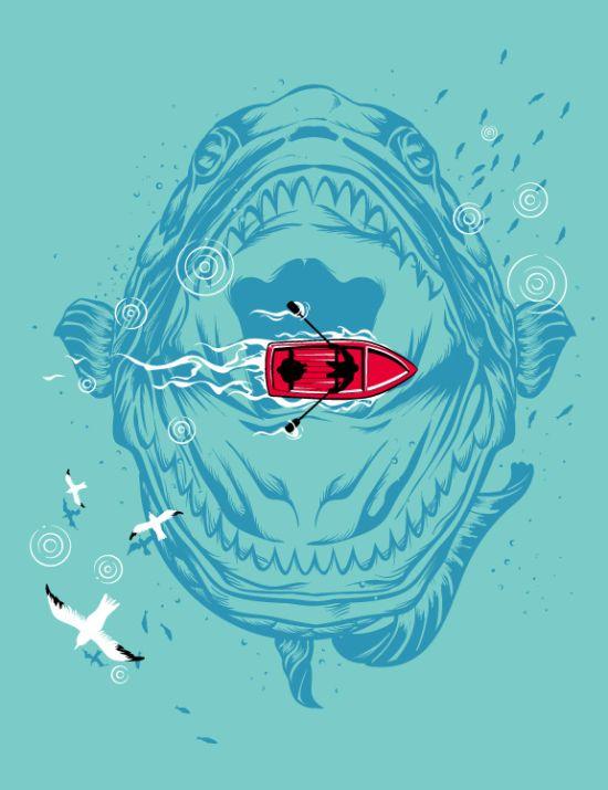 Креативные рисунки для футболок (109 картинок)