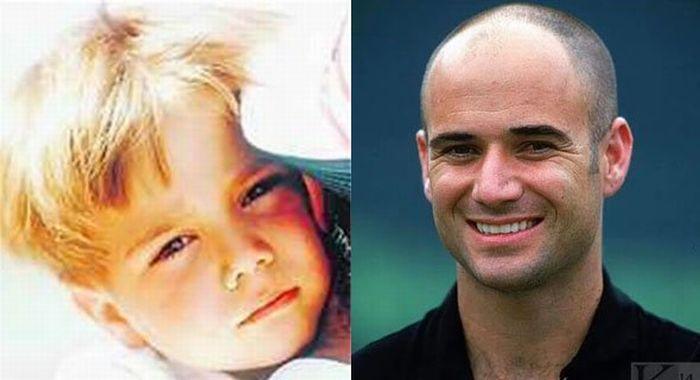 Звезды тенниса в детстве и сейчас (19 фото)