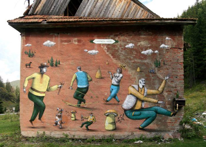 Красивые рисунки на стенах (29 фото)