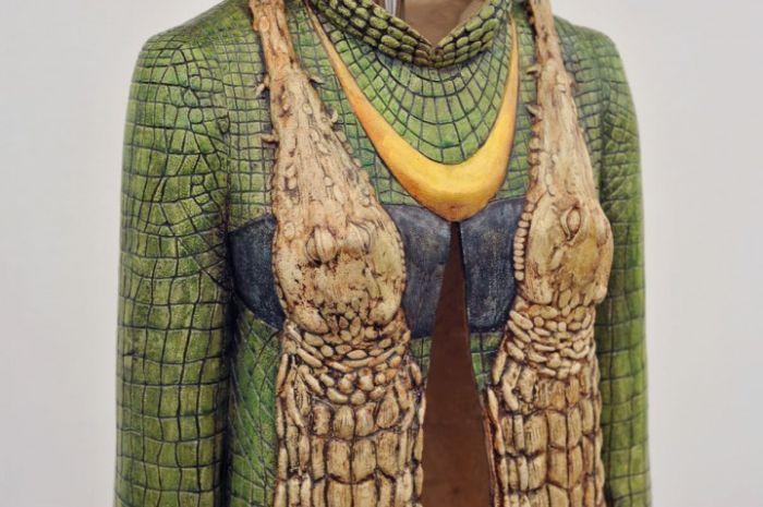 Крокодиловый прикид (5 фото)