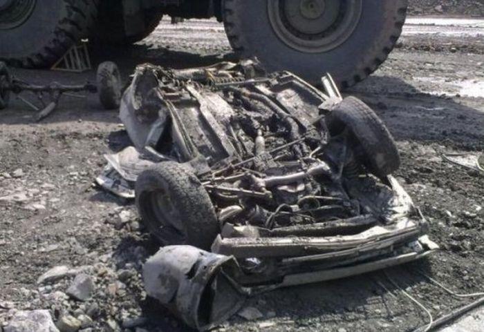 Несчастный случай в угольном разрезе (8 фото)