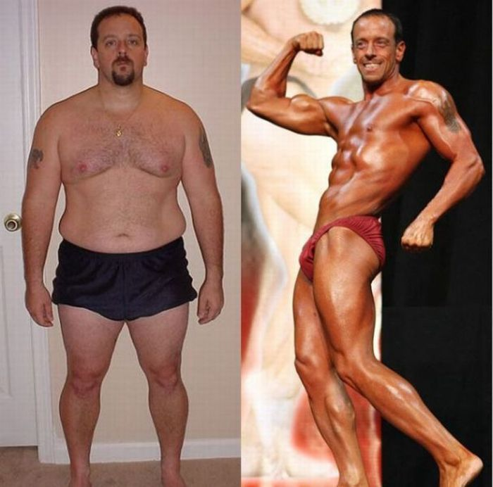 Пример похудения и занятий мужчины