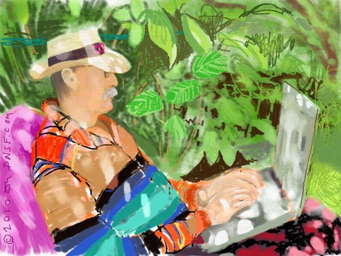 Красивые рисунки, нарисованные пальцами на iPad (20 фото)