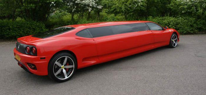 Лимузин из Ferrari (9 фото + видео)