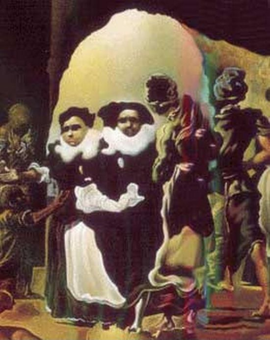 Оптические иллюзии в работах Сальвадор Дали (18 картин)