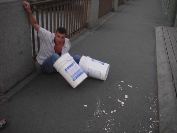 И снова в Питере пытались утопить человека в бетонных башмаках (5 фото)