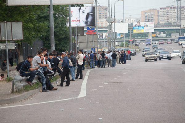 Рынок рабов на Ярославском шоссе (14 фото)