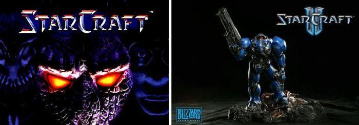Разница между Starcraft и Starcraft 2 (2 картинки)