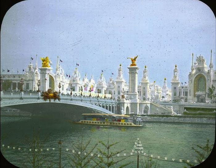 Цветные фотографии Парижа в 1900х (51 фото)