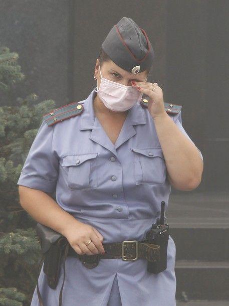 Москва в дыму (28 фото)