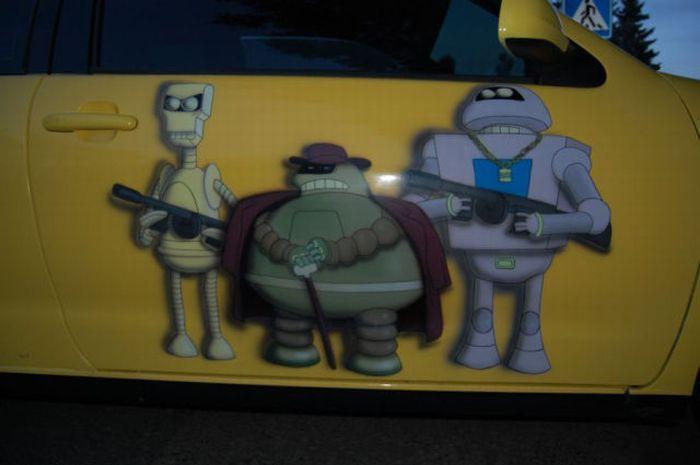 Машина фаната Футурамы (12 фото)