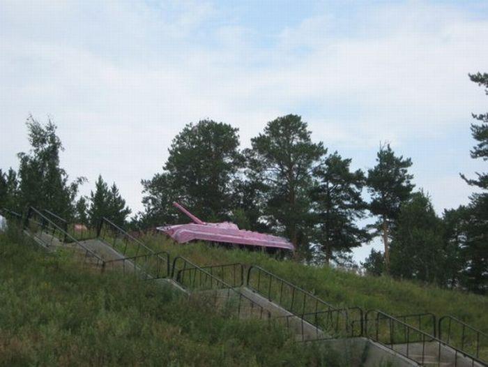 Розовый танк (5 фото + видео)
