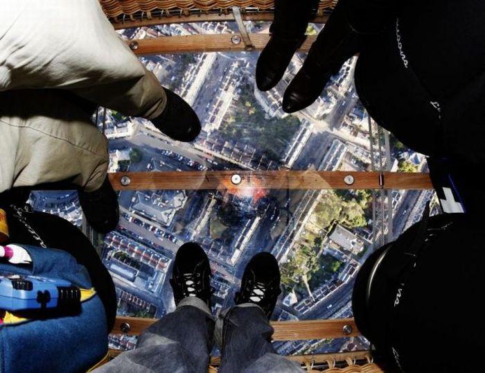 Первый в мире воздушный шар с прозрачным дном (7 фото + видео)
