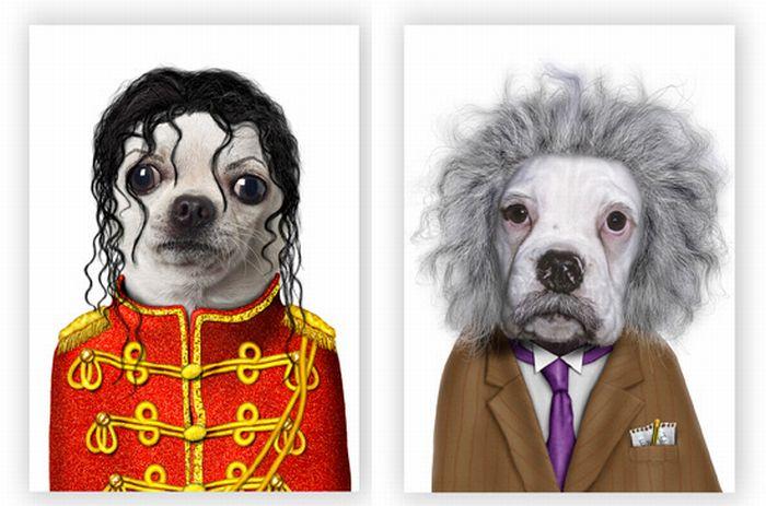 Животные и известные люди (9 фото)