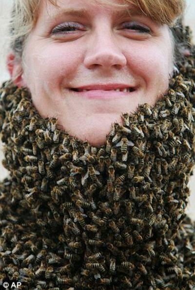 Соревнование на лучшую бороду из пчел (6 фото)