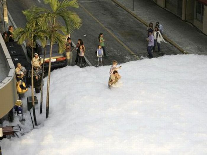 Пенная вечеринка в Майами (22 фото)