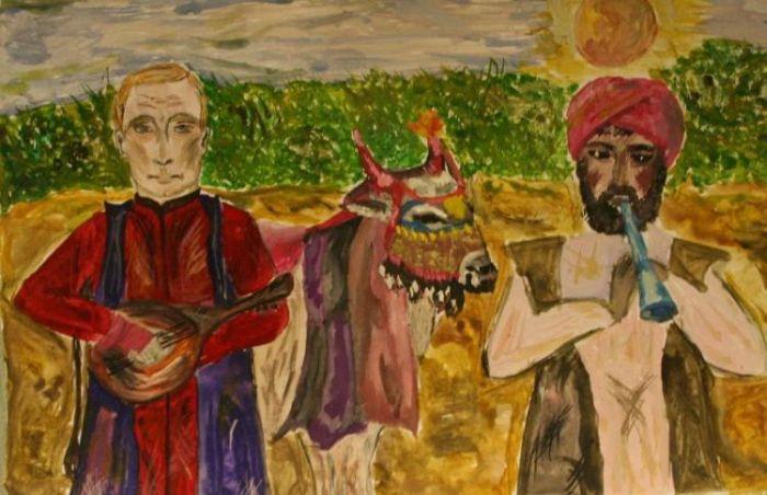 Дети рисуют Путина (14 картинок)
