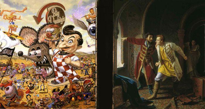 Новые версии старых картин (80 картинок)