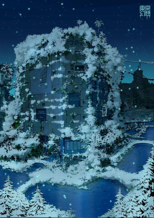 Постапокалиптические рисунки Токио (34 картинок)