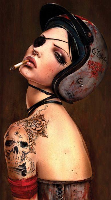 Курящие девушки (45 рисунков)
