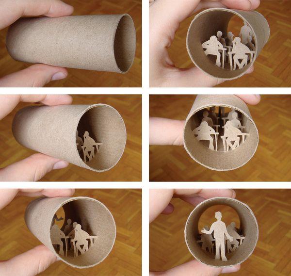 Супер-креатив! Резьба по туалетной бумаге (36 фото)