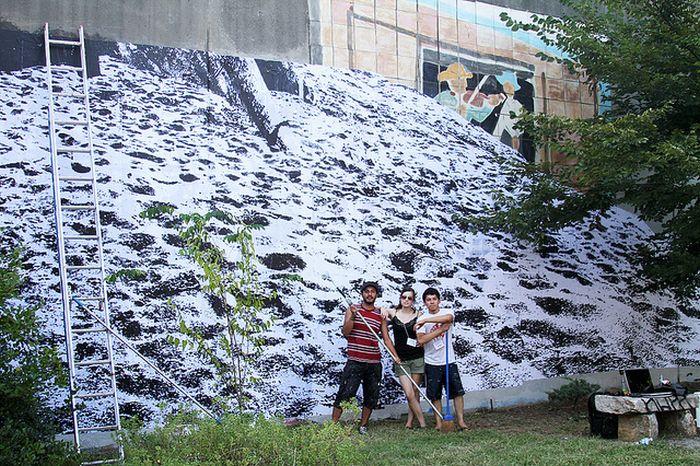 Красивый рисунок на стене (11 фото)