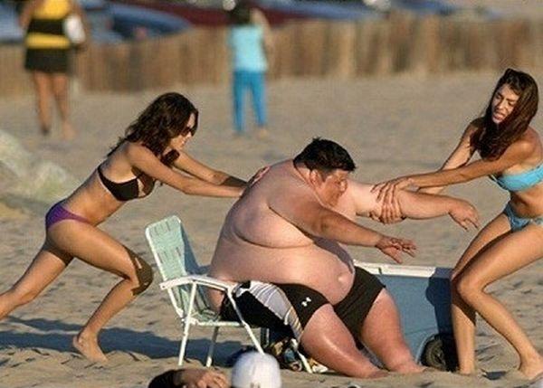 Фото толстые на пляже