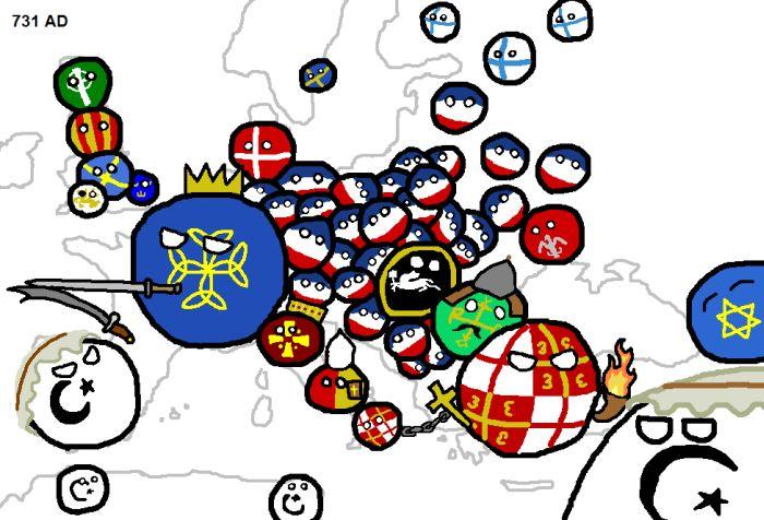 Карта европейских войн (14 картинок)