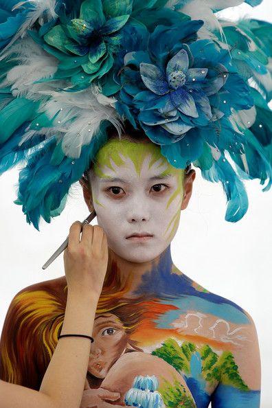 Фестиваль бодиарта в Южной Корее (28 фото)