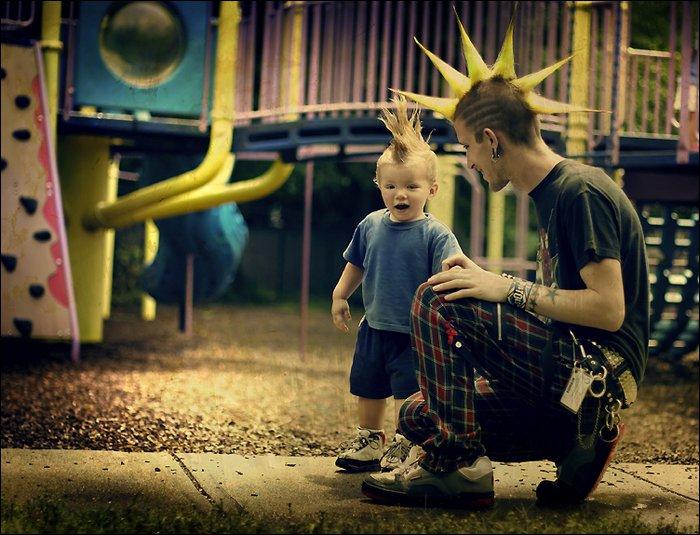 Фото панков с детьми