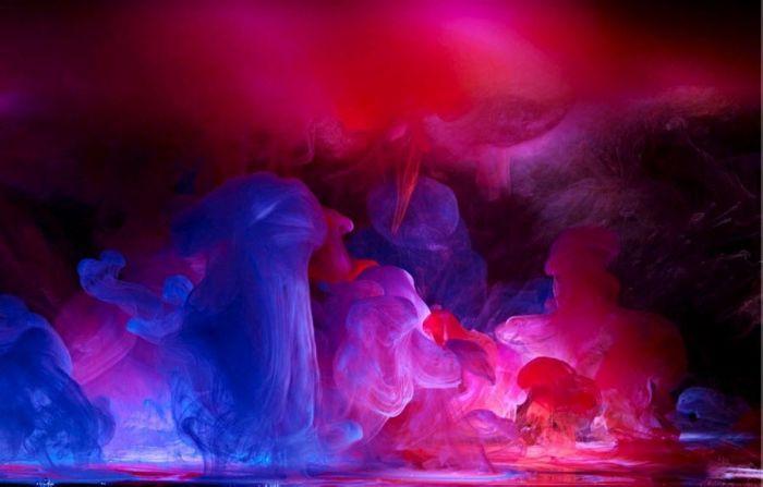 Краска и вода (10 фото)
