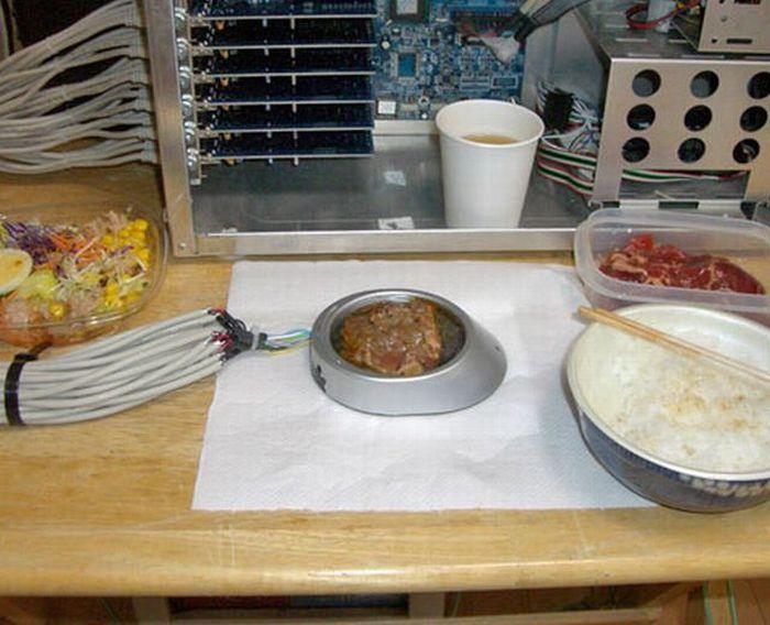 Как приготовить мясо с помощью USB (6 фото)
