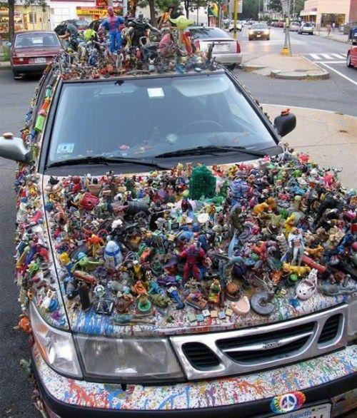 Машина из игрушек (5 фото)