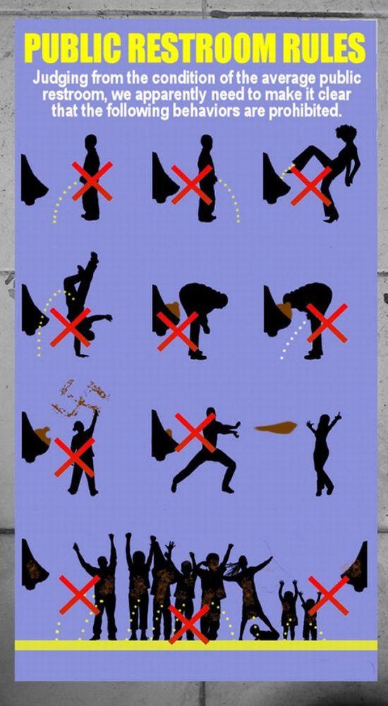 Правила пользования туалетом (1 картинка)