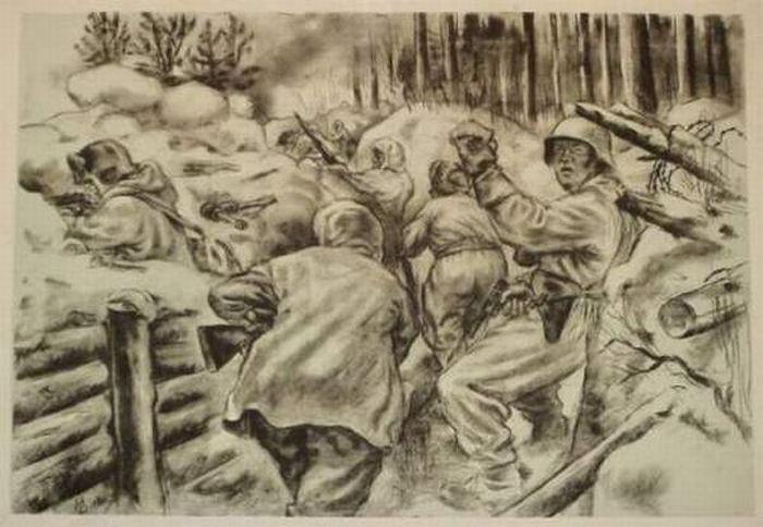Вторая мировая война. Рисунки в карандашах (12 картинок)