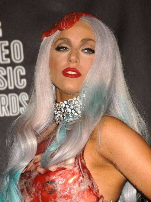 Lady Gaga в мясном платье (10 фото)
