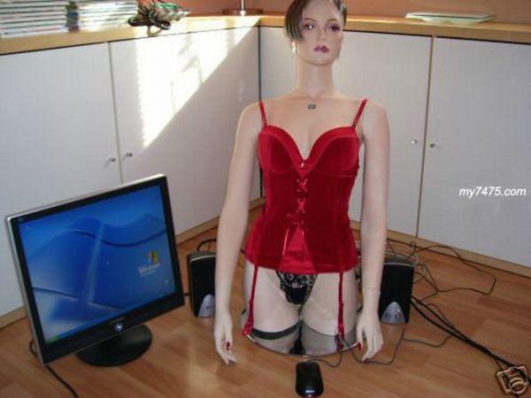 Девушка-компьютер (6 фото)