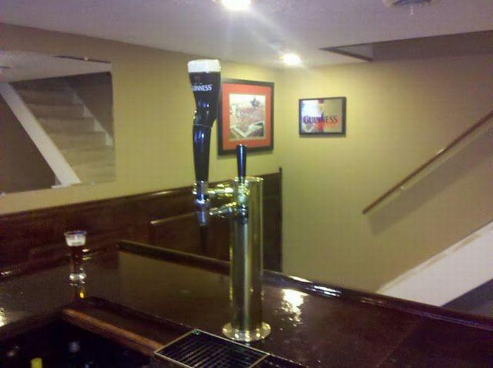 Как построить бар в подвале (35 фото)