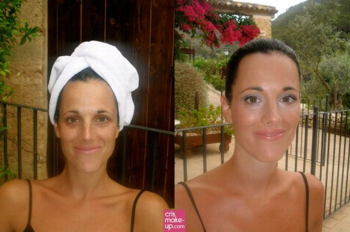 Женщины с косметикой и без (25 фото)