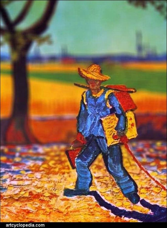 Картины Ван Гога в фотографиях Тилт-шифт (16 фото)