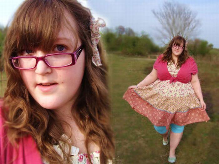 фото девушка толстая с подсолнухами на сиськах