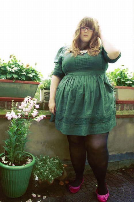 Стильная полная девушка (36 фото)