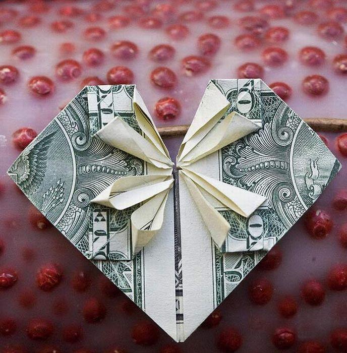 Денежные оригами (20 фото)