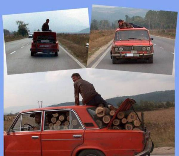 Еще одна подборка смешных способов перевозки (25 фото)