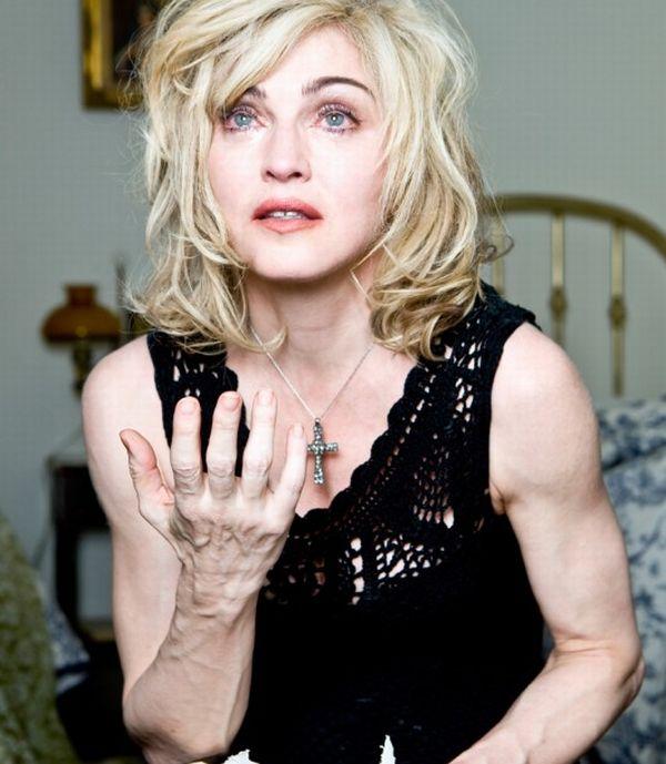 Мадонны до и после фотошопа 13 фото